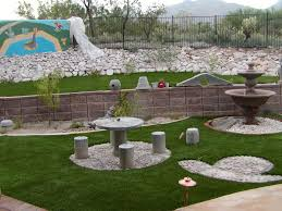 Small Backyard Landscaping Ideas Rocks Arizona Back Yard ... Outdoor Living Cute Rock Garden Design Idea Creative Best 20 River Landscaping Ideas On Pinterest With Lava Fleagorcom Natural Landscape On A Sloped And Wooded Backyard Backyards Small Under Front Window Yard Plans For Of 25 Rock Landscaping Ideas Diy Using Stones Interior 41 Stunning Pictures Startling Gardens