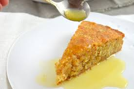 orangen mandel kuchen mit orangensirup
