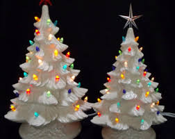 sale lighted ceramic tree collection 7 inches