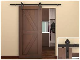Interior Barn Doors Amazoncom Rustic Road Barn Door Hdware Kit Track Sliding Remodelaholic 35 Diy Doors Rolling Ideas Gallery Of Home Depot On Interior Design Artisan Top Mount Flat Bndoorhdwarecom Door Style Locks Stunning Pocket Privacy Lock Styles Beautiful For Handles Pulls Rustica Best Diy New Decoration Monte 6 6ft Antique American Country Steel Wood Bathrooms Homes Bedroom Exterior Shed Design Ideas For Barn Doors Njcom