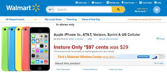 Walmart Clearing iPhone 5C Inventory by slashing Contract Price to