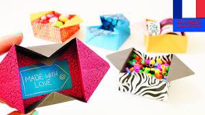 boîte origami à fabriquer boîte de rangement simple