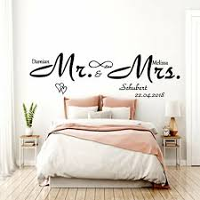 wandtattoo aa341 schlafzimmer mr und mrs mit wunsch namen