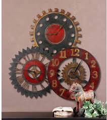 Bed Bath And Beyond Decorative Wall Clocks by Uttermost Rusty Movements Metal 35 Inch Wall Clock Hayneedle