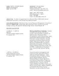 Military Veteran Resume Examples To Civilian Sample