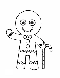 Candy Cane Coloring Pages Gingerbread Man
