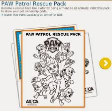 Paw Patrol Free Printable Coloring Pages