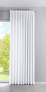 vorhang blickdicht palermo hxb 250x300 cm weiß gardine breit matt lichtdurchlässig verdeckte schlaufen raffhalter gardinenband 100002651