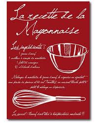 cadre cuisine recette mayonnaise tableau design pour cuisine defacto