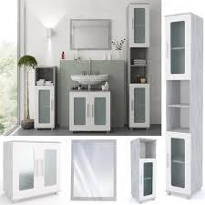 vicco badmöbel set rayk weiß grau beton verglast badezimmer spiegel waschtisch unterschrank bad badschrank