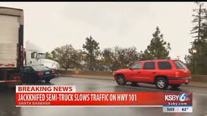 Jackknifed Semi-truck Slows Traffic On Hwy 101 Through Santa Barbara ... Semi Jackknifes On Icy Hwy 20 Driver Cited Ktvz Two Police Officers 2 Others Injured In Crash When Truck Jackknifed Semi Creates Traffic Snarl I44 Near Catoosa Tulsas I75 Reopens After Jackknifed Cleared Sw Detroit Causes Sthbound I15 Salt Jackknifed Truck Youtube Route 3 North Closed Near Putnam Bridge For Tractor A Hgv Heavy Goods Vehicle Lorry Stuck A Stock Delays I65 Tractor Trailer I91 New Haven Connecticut Shuts Down Inrstate 15 Bannock County Wreck I70 Cdot Offering Tire Checks