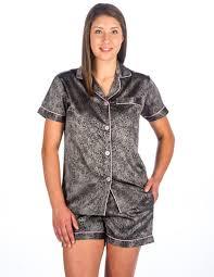 women u0027s premium satin short pajama sleepwear set u2013 noble mount