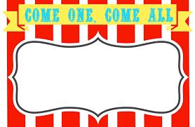 Blank Circus Invitations Templates Free