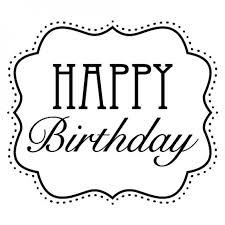 Happy Birthday Clipart Black And White