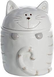 keramik vorratsdose mit deckel kaffee zucker küche aufbewahrungsbehälter katze motiv weiß katze geschenk für katzenliebhaber katzenfreunde