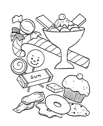 Ice Cream And Other Sweet Coloring Pages