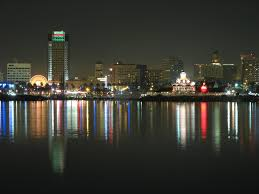 Downtown Long Beach California At Night
