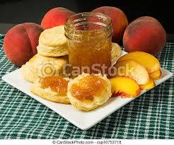 kuchen mit pfirsich und pfirsichmarmelade oder marmelade