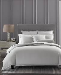 hotel collection ladder stitch pique grey bedding collection