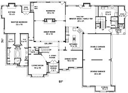 Modest Design 6 Bedroom House Floor Plans Luxury Style