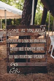 Country Rustic Themed Wedding Signs For No Seating Plan