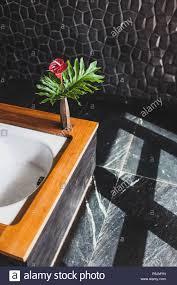 modernes design der badezimmer mit schwarzen strukturlack