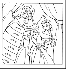 Amazing Disney Princess Belle Coloring Pages With And