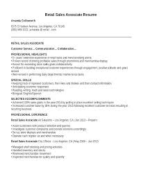 Resume Summary Examples For Retail Manager Sample Sales Associate Free It Of The Proper