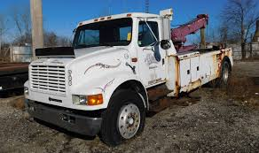 1990 International Model 4900 4x2 Single Axle Tow Truck, Diesel ...