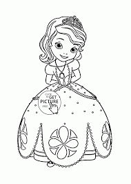 Princess Sofia Coloring Page For Girls Disney Kids Pages Printables Free