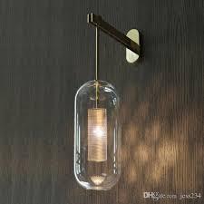 großhandel italien design wand sakone leuchte schwarz gold schlafzimmer nachttischle lichtspiegel dekoration wandleuchten innen modernes