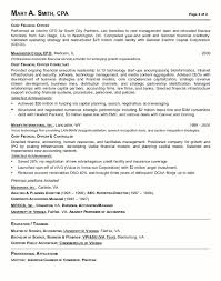 Resume Sample Chief Financial Officer Page 2