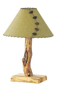 Rustic Aspen Log Lamp