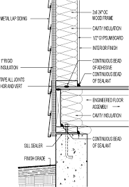 Wall Section Metal Lap Siding 1 Rigid Insulation Sheathing