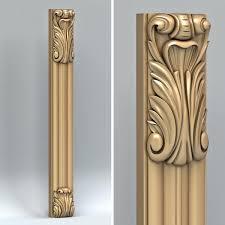 3d Carved Pillar Model Pillar In 2019 Pillar Design