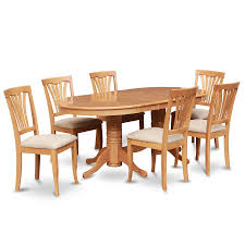 East West Furniture Vancouver Oak 7-Piece Dining Set With Oval ... Art Fniture Belmar New Pine Round Ding Table Set With Camden Roundoval Pedestal By American Drew Black Or Mackinaw Oval Single With Leaf Tables Antique And Chairs Timhangtotnet Shop 7piece And 6 Solid Free Delfini Drop Espresso Pallucci Rotmans Amish Miami Two Leaves Of America Harrisburg 18 Inch The Beacon Grand Cayman Lavon W18 Intertional Concepts Sophia 5piece White