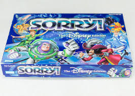 Sorry The Disney Edition Board Game Parker Brothers Classic Family COMPLETE