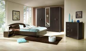 Trendy Brown Bedroom Furniture Set Plus Modern Rectangular Rug Design And Floor To Ceiling Window Idea