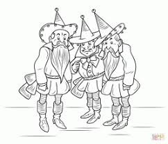 Wizard Of Oz Munchkins Coloring Page
