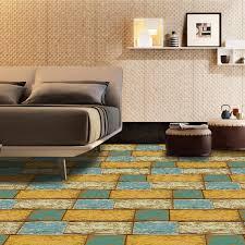 einfache holzmaserung wand aufkleber wohnzimmer schlafzimmer küche boden renovierung dekorative aufkleber pvc boden vision wandbild große