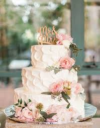 White Three Layer Wedding Cake With Mrand Mrscake Topper