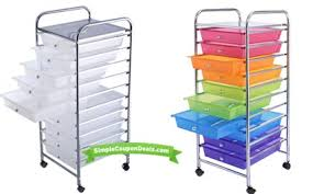 10 Drawer Organizer Cart $32 79 Shipped Simple Coupon Deals