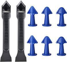 8 stück silikon dichtstoff düsen applikator abdichtungswerkzeug fugenschaber für küche badezimmer fenster fliesen oder ziegel