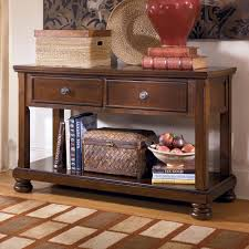 Add Rustic Style And Function To Your Living Room With The Sofa Table Media