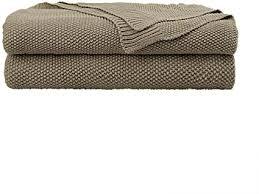 piccocasa kuscheldecke wohndecken 100 baumwolle sofadecke wolldecke pflegeleicht gesund warme sofaüberwurf oder wohnzimmer decke khaki