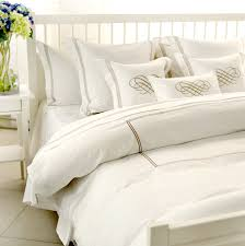 Chic White Hotel Vintage Bedding Gold Embroidery Duvet Cover High