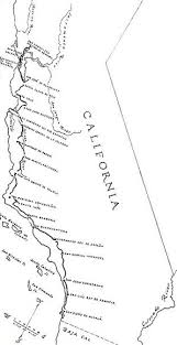 Map Showing The Route Of El Camino Real In 1820 Was Produced
