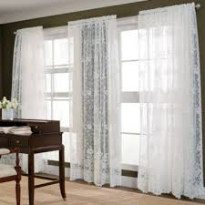 Jcp Home Curtain Rods by Home Shari Lace Rod Pocket Sheer Panel Rod Pocket Curtains Rod