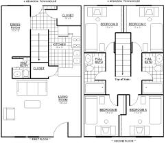 Two Bedroom Townhouse Floor Plan 2 Bedroom Townhouse Floor Plans Design Decorating – Lcxzz