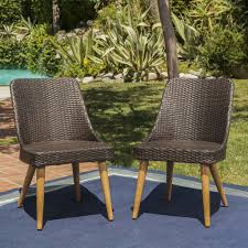 Desmond Outdoor Wicker Dining Chairs With Wood Finished Metal Legs (Set Of  2) Comfortcare 5piece Metal Outdoor Ding Set With 52 Round Table T81 Chair Provence Hampton Bay Mix And Match Stack Patio 49 Amazoncom Christopher Knight Home Lala Grey 7 Chairs Of 4 Tivoli Tub Black Merilyn Rope Steel Indoor Beige Washington Coal Click Pc Stainless Steel Teak Modern Rialto Rectangle 6